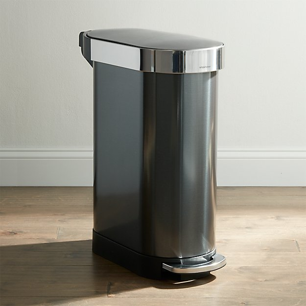 Simplehuman 45 Liter Black Slim Trash Can Reviews