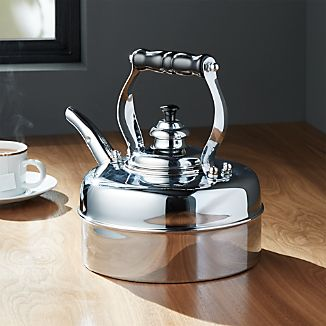 Simplex Heritage No. 2 Chrome Gas/Electric Tea Kettle