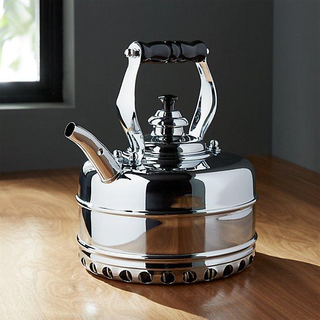 Richmond No. 4 Chrome Gas Tea Kettle - Image 1 of 2