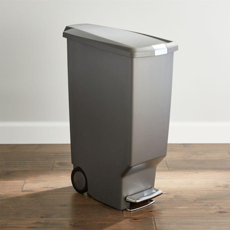 simplehuman   Grey 40 Liter 10 5 Gallon Slim Trash Can. simplehuman   45 Liter 12 Gallon Stainless Steel Step Kitchen