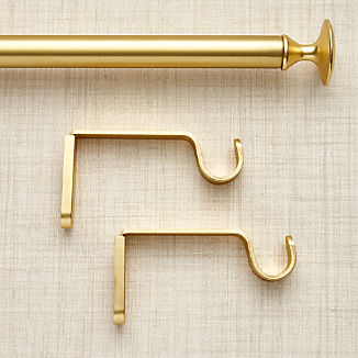 Single Gold Curtain Rod