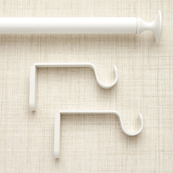 Single White Curtain Rod Crate And Barrel