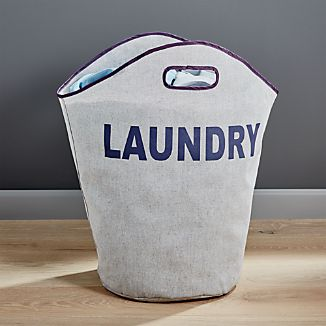 Single Load Canvas Laundry Tote