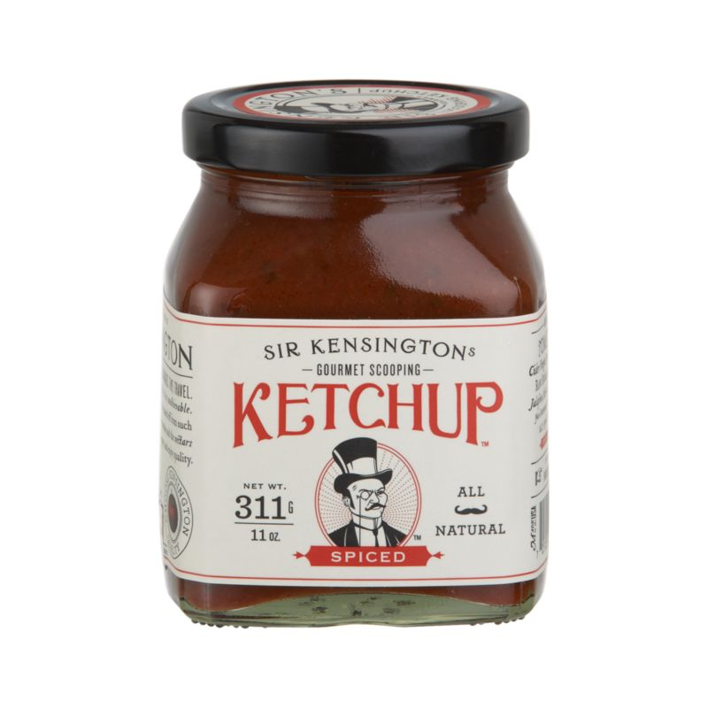 Artisanal condiment rethinks traditional ketchup with fresh ingredients that create a thicker consistency and richer flavor. Spiced variety is laced with olive oil and green onions, and also spiked with jalapeño, cilantro and cayenne.<br /><br /><NEWTAG/><ul><li>Contains tomato paste, apple cider vinegar, raw sugar, onion, honey, cilantro, olive oil, jalapenos, lime juice concentrate, green bell pepper, salt, spices and agave nectar</li><li>Produced in a facility that processes nuts</li><li>Made in USA</li></ul>
