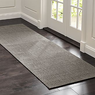 Sisal Grey Rug 2.5u0027x8u0027 & Rug Runners for Hallway Kitchen u0026 Outdoor | Crate and Barrel