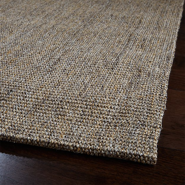 Sisal Heritage Taupe Rug Runner 2 5 X8 Crate And Barrel