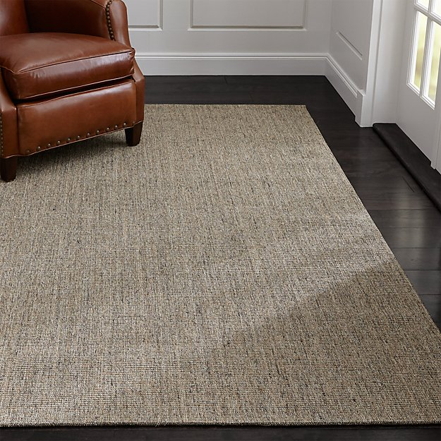 sisal heritage taupe rug crate and barrel