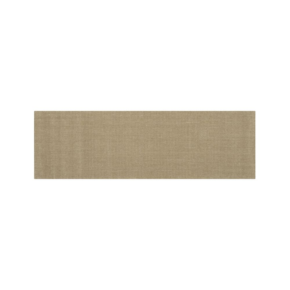 Sisal Almond 2.5'x8' Rug Runner - Crate and Barrel