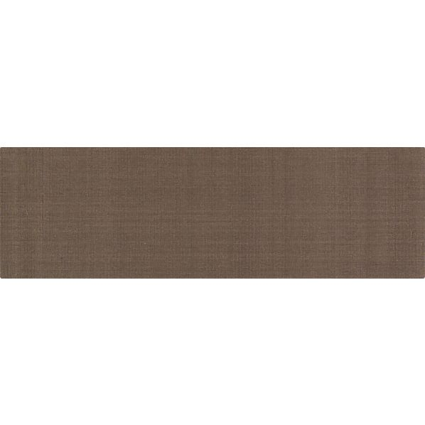 Sisal Chocolate 2.5'x8' Runner