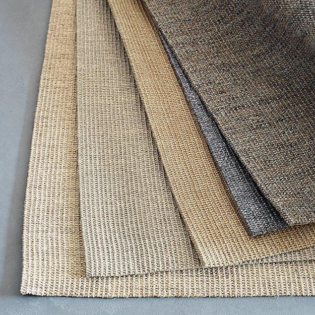 Washable Sisal Look Rugs: Sisal Dove Grey 9'x12' Rug