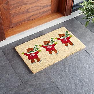 Skating Bears Doormat