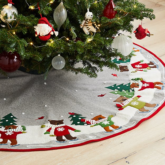 Skating Holiday Bears Tree Skirt - Image 1 of 1