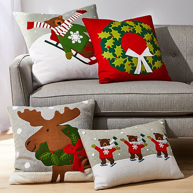 Holiday Animal Pillow Arrangement - Image 1 of 1