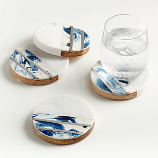 Sky Inlay Coasters, Set of 4
