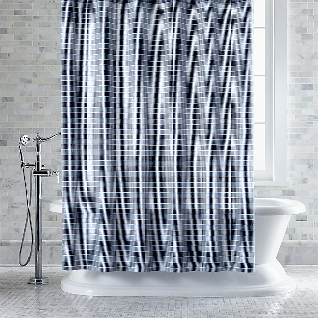 Shower Curtains crate and barrel shower curtains : Skyline Shower Curtain | Crate and Barrel