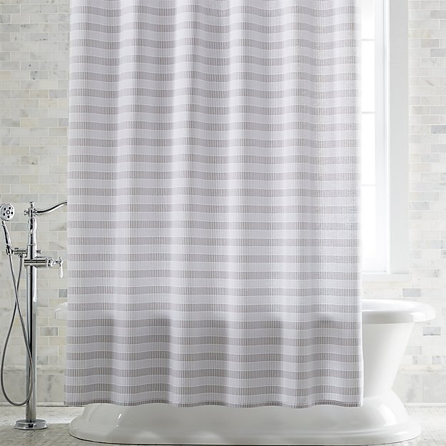 Skyline Grey Shower Curtain Crate And Barrel