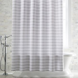 Grey White Striped Shower Curtain. Skyline Grey Shower Curtain Fabric Curtains  Crate and Barrel