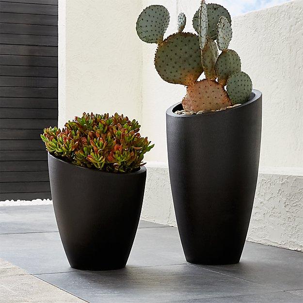 Slant Dark Gray Planters