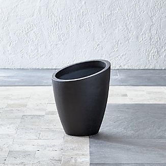 Slant Dark Gray Short Planter