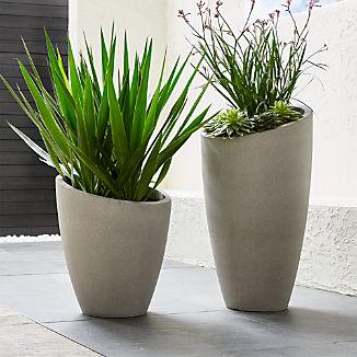 Slant Light Grey Planters