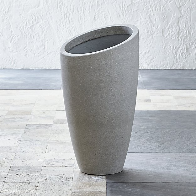 Slant Tall Planter Reviews Crate And Barrel