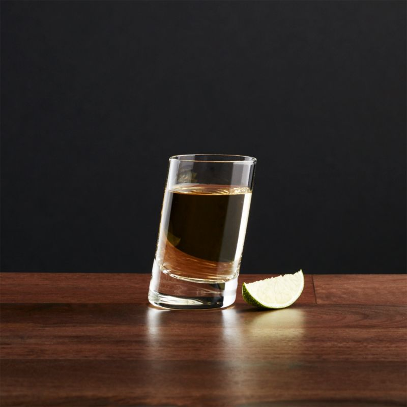 Slant 2 Oz Shot Glass Reviews Crate And Barrel