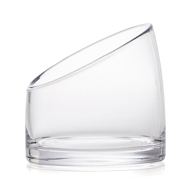 Slant Large Glass Vessel