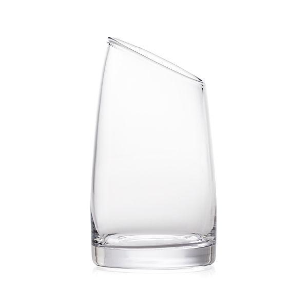 Slant Medium Glass Vessel