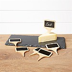 Slate Cheese Board and Cheese Markers Set