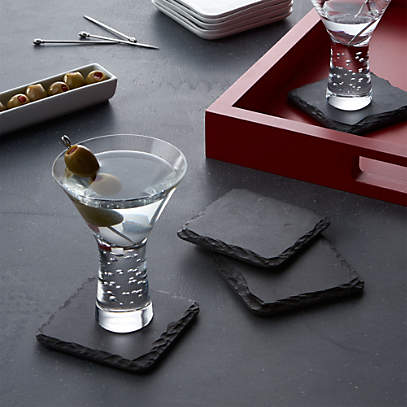 Set Of 4 Slate Coasters Reviews Crate And Barrel Canada