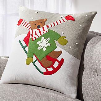 Sledding Bear Pillow