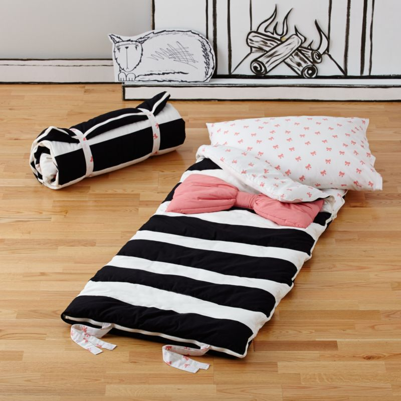 Kids Black And White Sleeping Bag Crate And Barrel