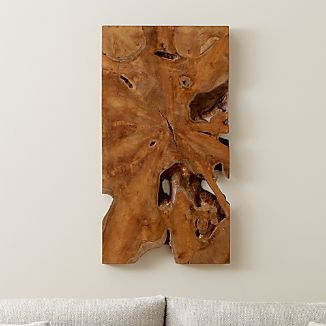 Slice Teak Wall Art