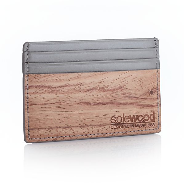 Slim Grey Card Wallet