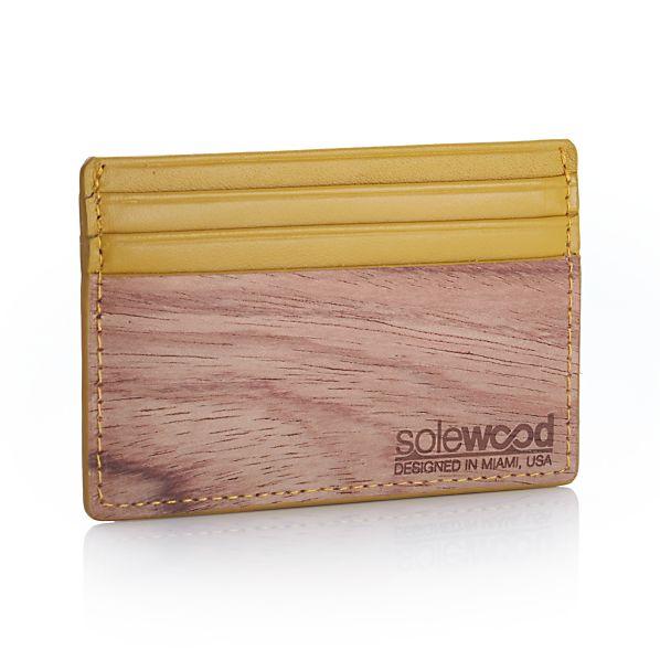Slim Mustard Card Wallet