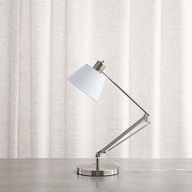Slim Desk Lamp with White Shade – Crate and Barrel Desk Lamp