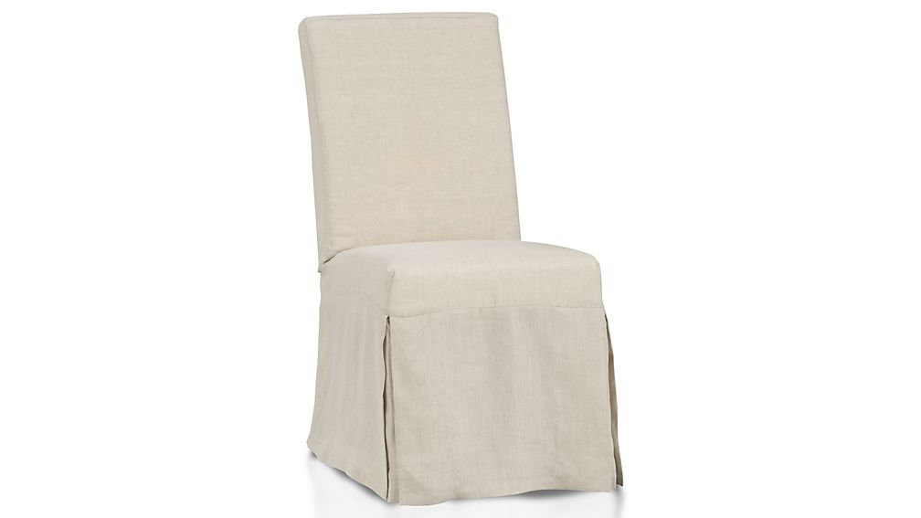 ... Slip Linen Slipcovered Dining Chair ...
