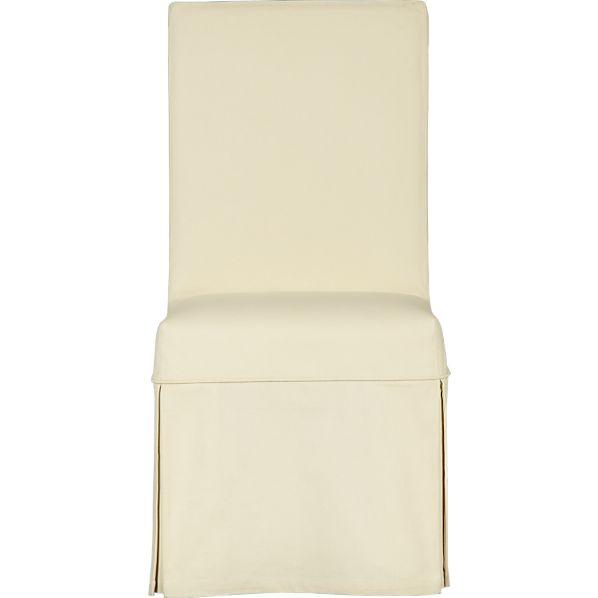 Slip Side Chair with Buttercream Slipcover
