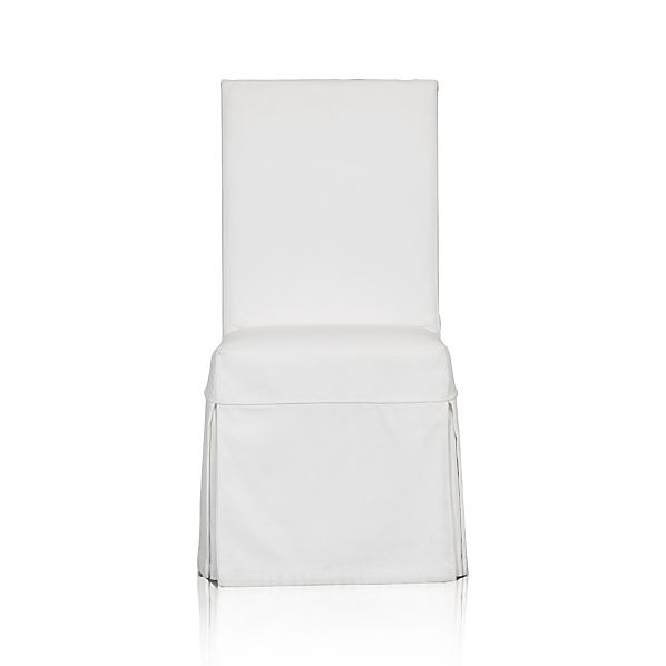 Slip Side Chair with White Slipcover
