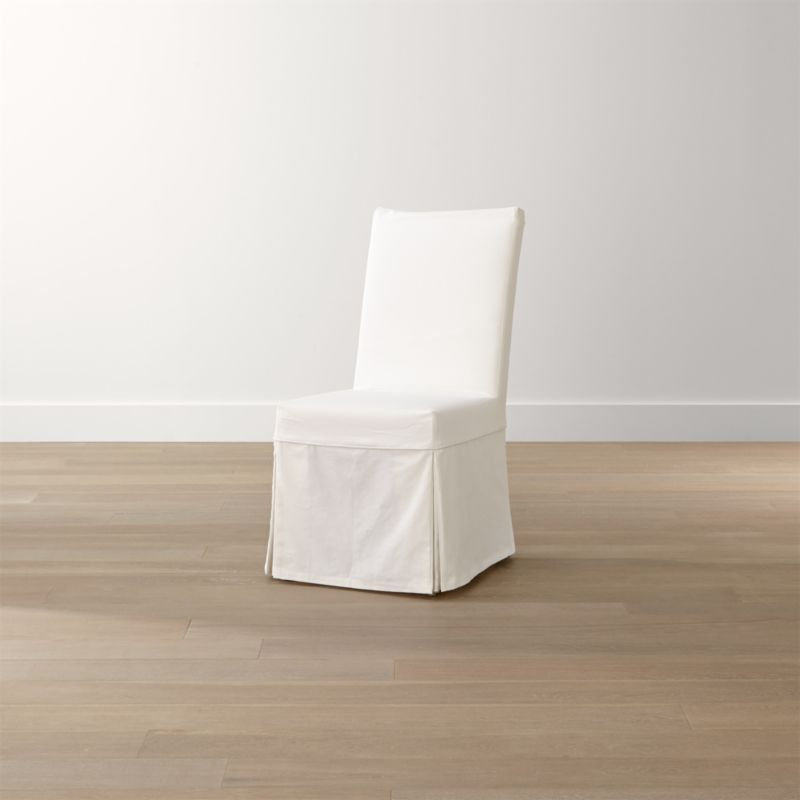 Slip White Slipcovered Dining Chair Reviews Crate and Barrel