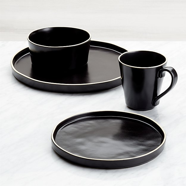 Sloan 4-Piece Black Place Setting - Image 1 of 4