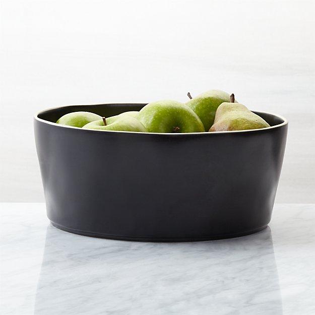 Sloan Black Serving Bowl - Image 1 of 4