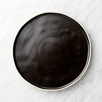 Sloan Black Dinner Plate & Dinner Plates: Square Oval Rectangular \u0026 Round | Crate and Barrel