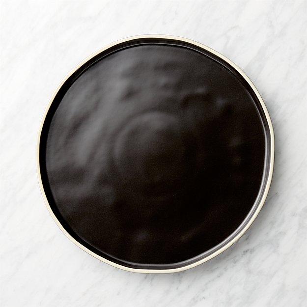 Sloan Black Dinner Plate - Image 1 of 6