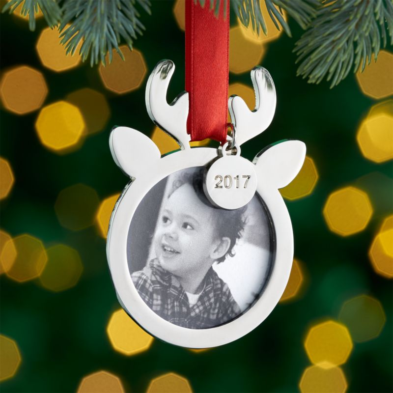 Babys First Christmas Ornament Frame with 2017 Charm  Crate and