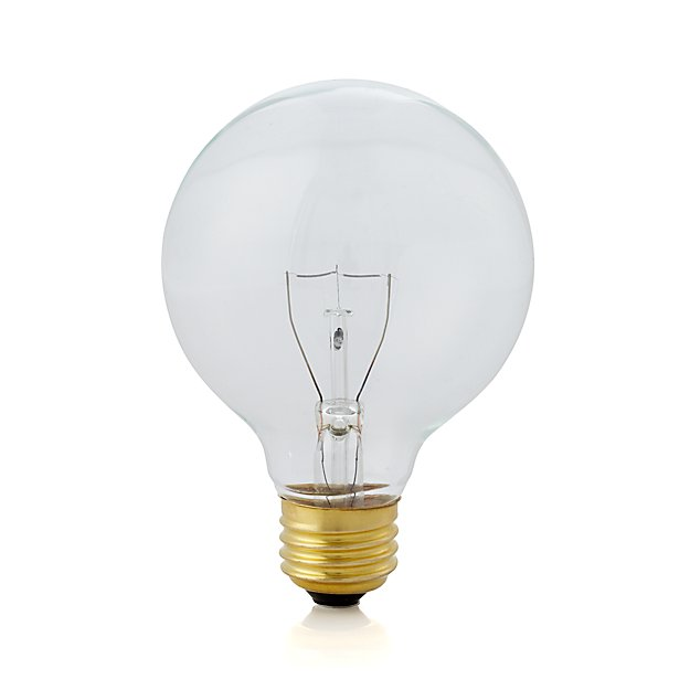 small 40w clear globe light bulb reviews crate and barrel. Black Bedroom Furniture Sets. Home Design Ideas