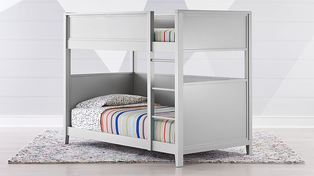 Small Space Twin Bunk Bed + Reviews   Crate and Barrel