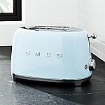 Smeg Pastel Blue 2-Slice Toaster