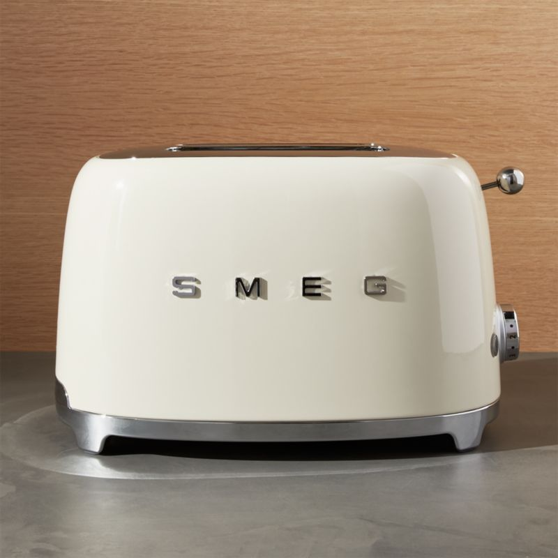 Smeg Cream 2 Slice Retro Toaster Reviews Crate And Barrel