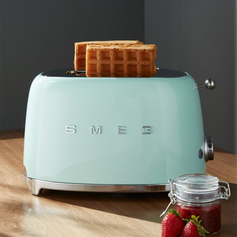 Smeg Pastel Green 2 Slice Retro Toaster Crate and Barrel : Smeg2SliceToasterMintSHF16 from www.crateandbarrel.com size 800 x 800 jpeg 47kB